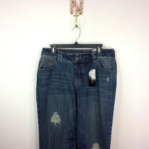 Lane Bryant Distressed Boot Cut Jeans Size 14